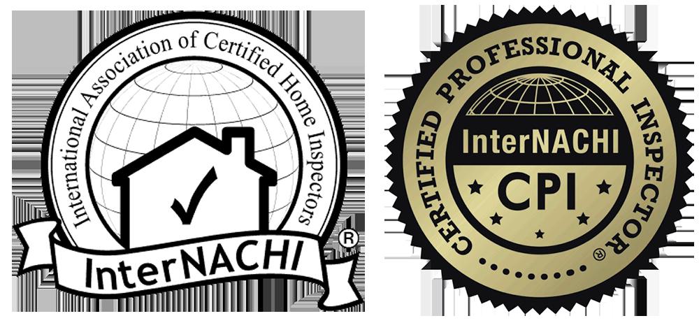 International Association for Certified Home Inspectors InterNACHI Member logo and Certified Professional Inspector