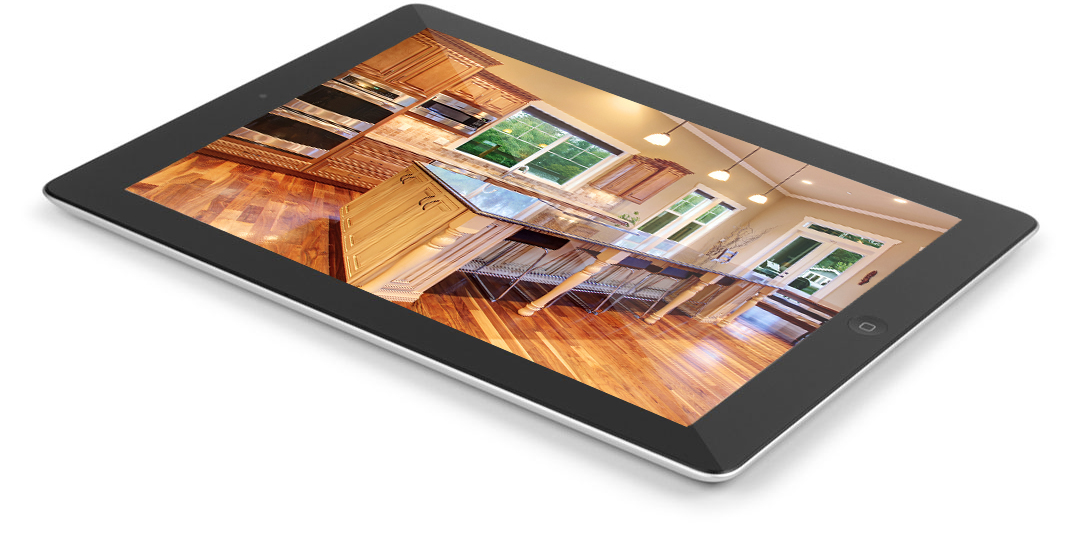 Online, digital home inspection report seen on a tablet