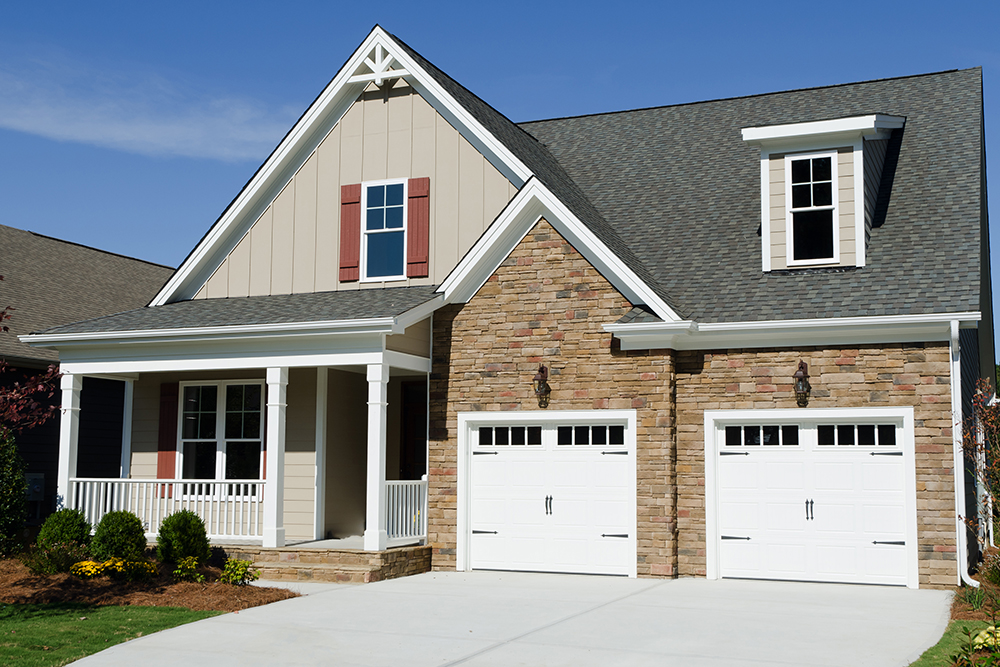Newly constructed house seen while preforming a home inspection