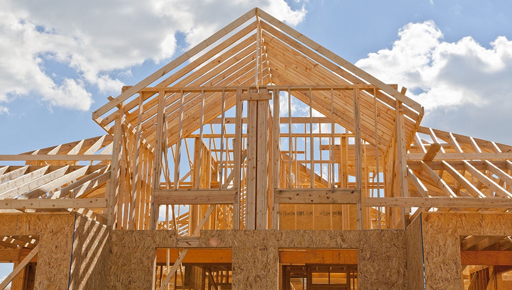 New home construction site seen by one of our home inspectors
