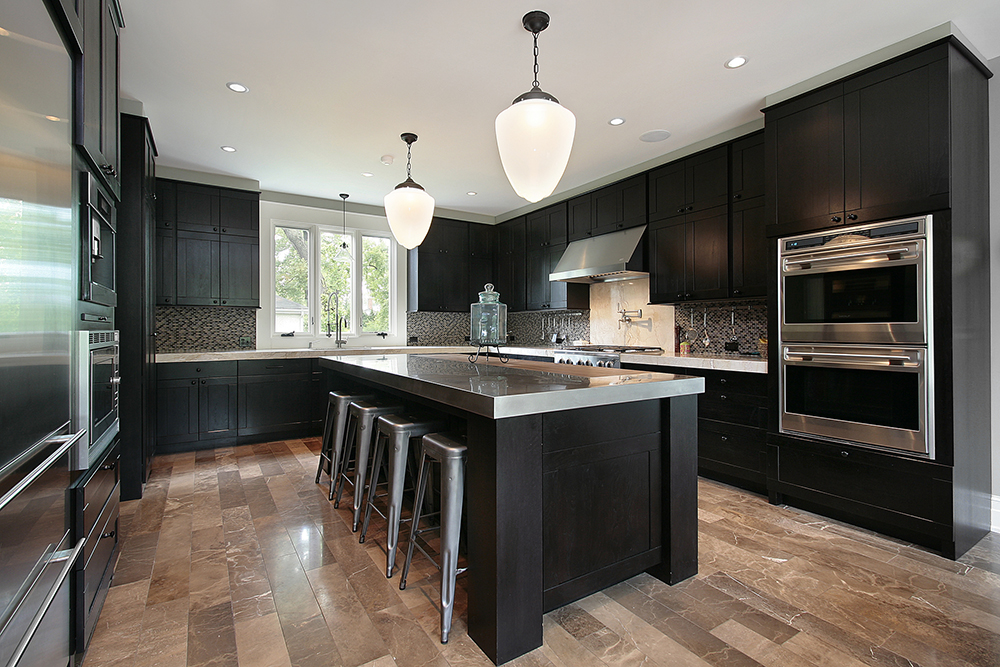 modern kitchen seen while carrying our thorough home inspection services